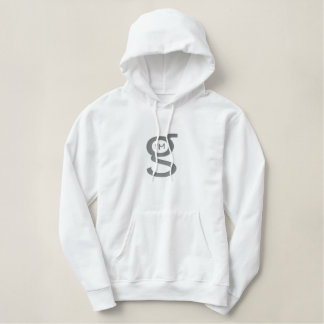 Logo blanc du sweat - shirt à capuche W de pull