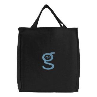 Logo (bleu) brodé des sacs à main W SweetBoy