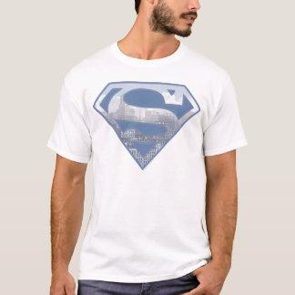 Logo bleu-clair de ville du S-Bouclier | de T-shirt