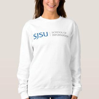 Logo bleu/gris du sweatshirt des femmes -