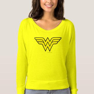 Logo classique de la femme de merveille   t-shirt