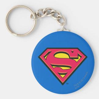 Logo classique du S-Bouclier   de Superman Porte-clé Rond