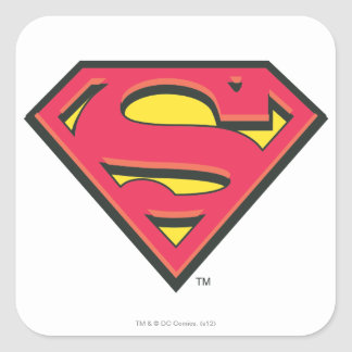 Logo classique du S-Bouclier   de Superman Sticker Carré