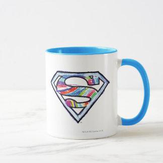 Logo coloré de croquis de Supergirl Mug