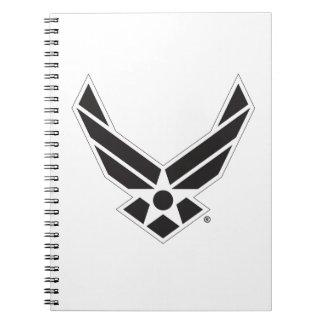 Logo d'armée de l'air des États-Unis - Noir Carnet