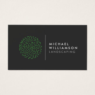 Logo de aménagement de jardinier moderne cartes de visite