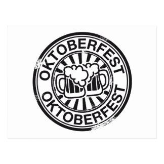 Logo de bière d'Oktoberfest Carte Postale