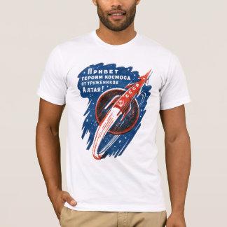 Logo de CCCP sur le T-shirt soviétique de Rocket