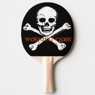 Logo de classe ouvrière de pirate raquette de ping pong