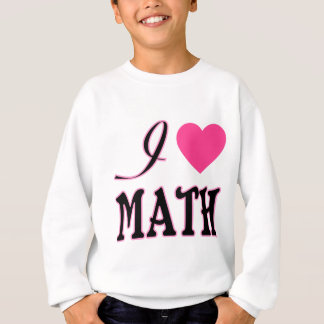 Logo de coeur de rose de maths d'amour sweatshirt