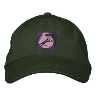 Logo de coiffeur casquette brodée