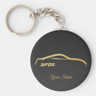 Logo de course de brosse d'or de Nissan 350Z avec Porte-clé Rond