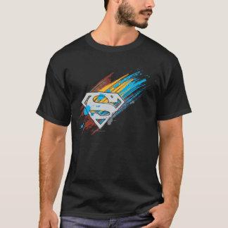 Logo de filets de peinture du S-Bouclier | de T-shirt