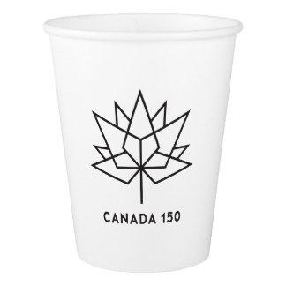 Logo de fonctionnaire du Canada 150 - contour noir Gobelets En Papier