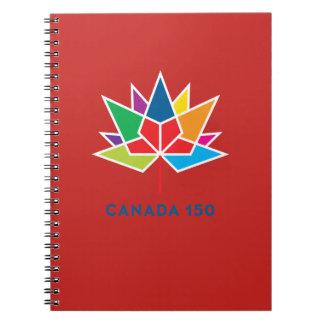 Logo de fonctionnaire du Canada 150 - multicolore Carnet