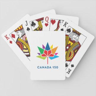 Logo de fonctionnaire du Canada 150 - multicolore Jeu De Cartes