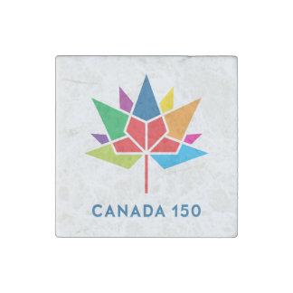 Logo de fonctionnaire du Canada 150 - multicolore Magnet En Pierre
