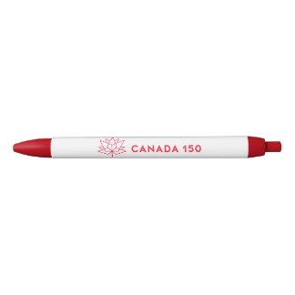 Logo de fonctionnaire du Canada 150 - rouge Stylo Noir
