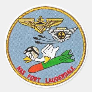 Logo de Fort Lauderdale de NAS Sticker Rond
