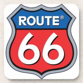 Logo de l'itinéraire 66 dessous-de-verre