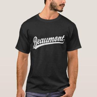 Logo de manuscrit de Beaumont dans le blanc T-shirt