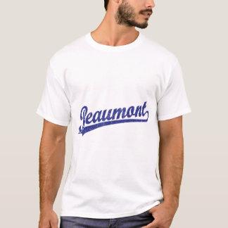 Logo de manuscrit de Beaumont dans le bleu T-shirt