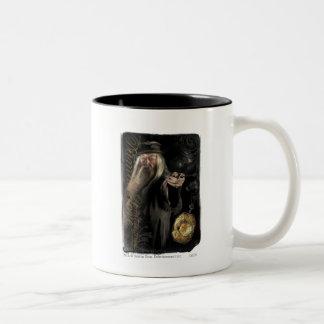 Logo de manuscrit de Dumbledore Tasse 2 Couleurs
