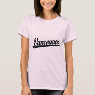 Logo de manuscrit de Vancouver dans le noir T-shirt