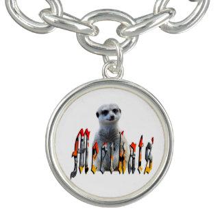 Logo de Meerkat et de Meerkats, bracelet de charme