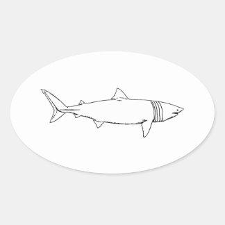 Logo de pèlerin (schéma) sticker ovale