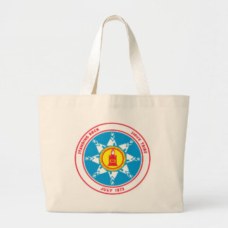 Logo debout de tribu de roche grand sac