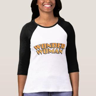 Logo d'orange de femme de merveille t-shirt