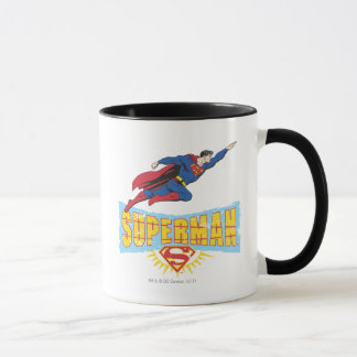 Logo et vol de Superman Mug