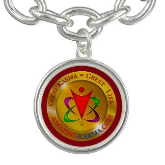 Logo extraordinaire de pièce d'or de karma bracelets