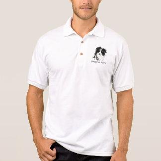 Logo fait sur commande, border collie, affaires de polo