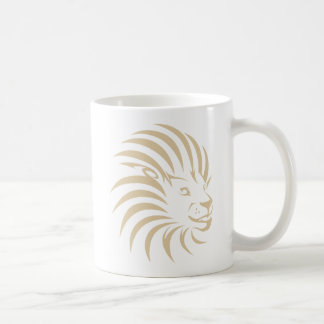 Logo fait sur commande de bruissement de lion mug blanc