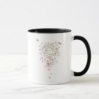 Logo floral vert de Supergirl Mug