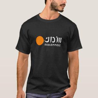 Logo foncé d'orange de T-shirt équipé par JDM
