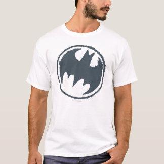 Logo grunge gris du symbole   de Batman T-shirt