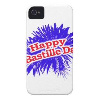 Logo heureux de graphique de jour de bastille coques iPhone 4
