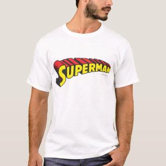 Logo jaune de lettres de rouge de Superman | T-shirt