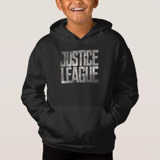 Logo métallique de ligue de justice de la ligue de