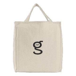Logo noir brodé du sac à main W