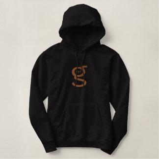 Logo noir du sweat - shirt à capuche W de pull