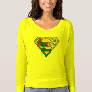 Logo noir rouge jaune gris de mélange du t-shirt