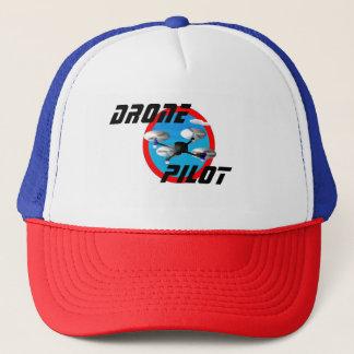 Logo pilote de bourdon avec le centre de bleu de casquette