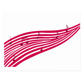 Logo rayé de musique de boulevard de framboise carte postale