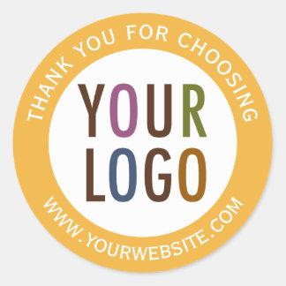 Logo rond d'affaires d'autocollants de Merci Sticker Rond