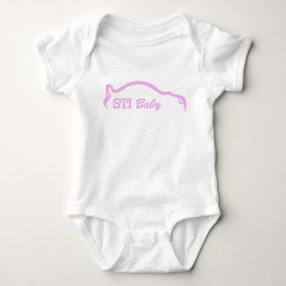 Logo rose de bébé de STI Body