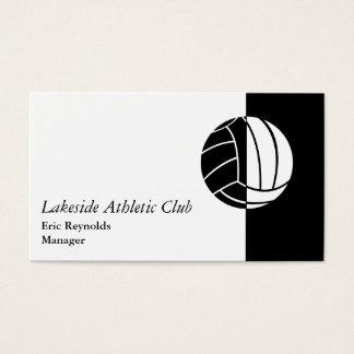 Logo sportif blanc noir de boule cartes de visite